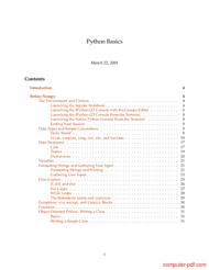 Tutorial Python Basics