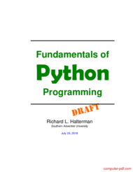 Tutorial Fundamentals of Python Programming