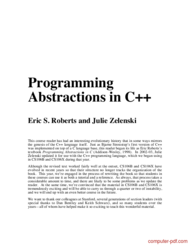 Tutorial Programming Abstractions in C++