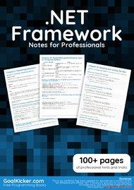 Tutorial .NET Framework Notes for Professionals book