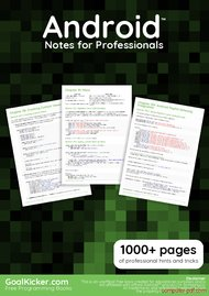 Tutorial Android Notes for Professionals book