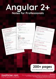 Tutorial Angular 2+ Notes for Professionals book