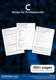 Tutorial C Notes for Professionals book