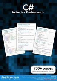 Tutorial C# Notes for Professionals book
