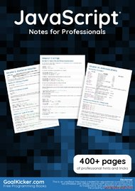 Tutorial JavaScript Notes for Professionals book