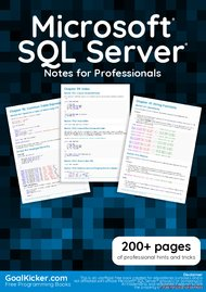 Tutorial Microsoft SQL Server Notes for Professionals book