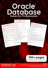 Tutorial Oracle Database Notes for Professionals book