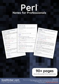 Tutorial Perl Notes for Professionals book