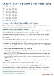 course PostgreSQL Notes for Professionals book