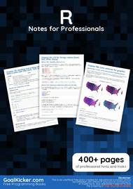 PDF] R Notes for Professionals book free tutorial for Beginners