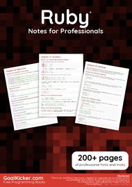 Tutorial Ruby Notes for Professionals book