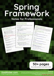 Tutorial Spring Framework Notes for Professionals book