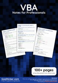 Tutorial VBA Notes for Professionals book