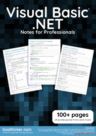 PDF] Visual Basic  NET Notes for Professionals book free