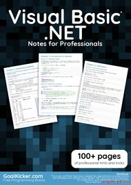 Tutorial Visual Basic .NET Notes for Professionals book