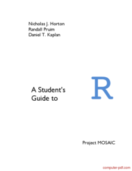 Tutorial A Student's Guide to R