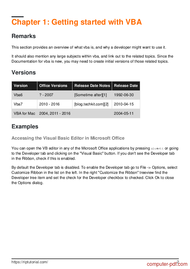 course Learning VBA