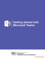Tutorial Getting started with Microsoft Teams