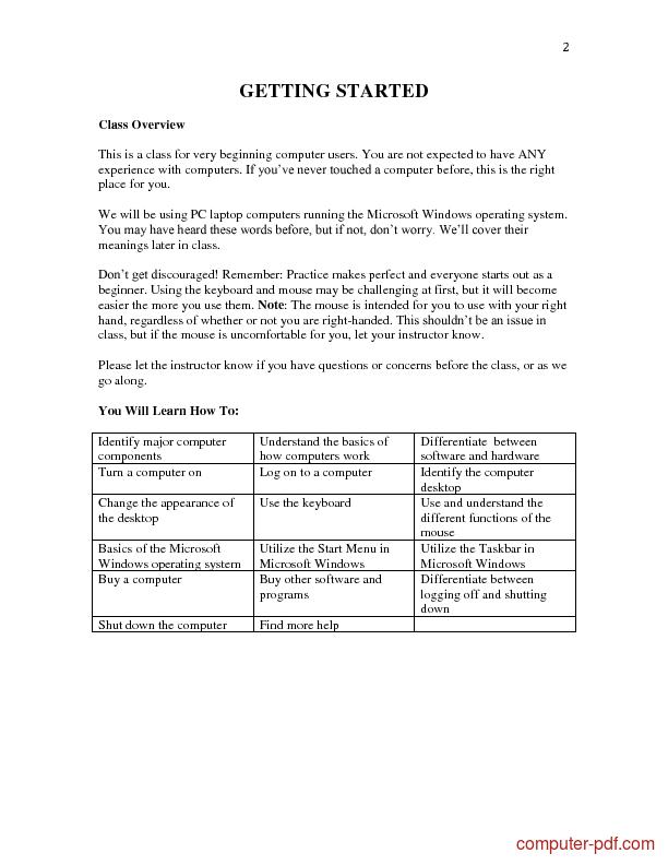 Tutorial Computer basics 2