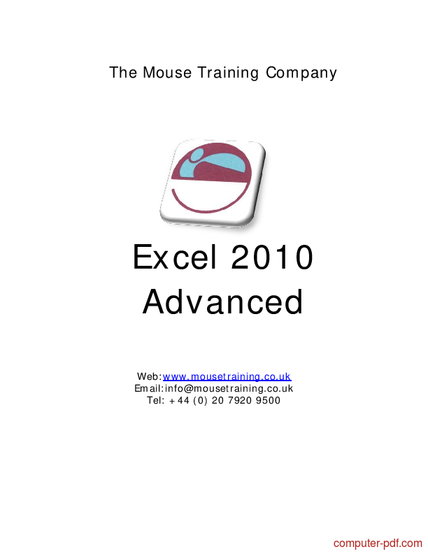 Tutorial Excel 2010 Advanced 1