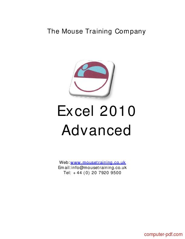 Tutorial Excel 2010 Advanced