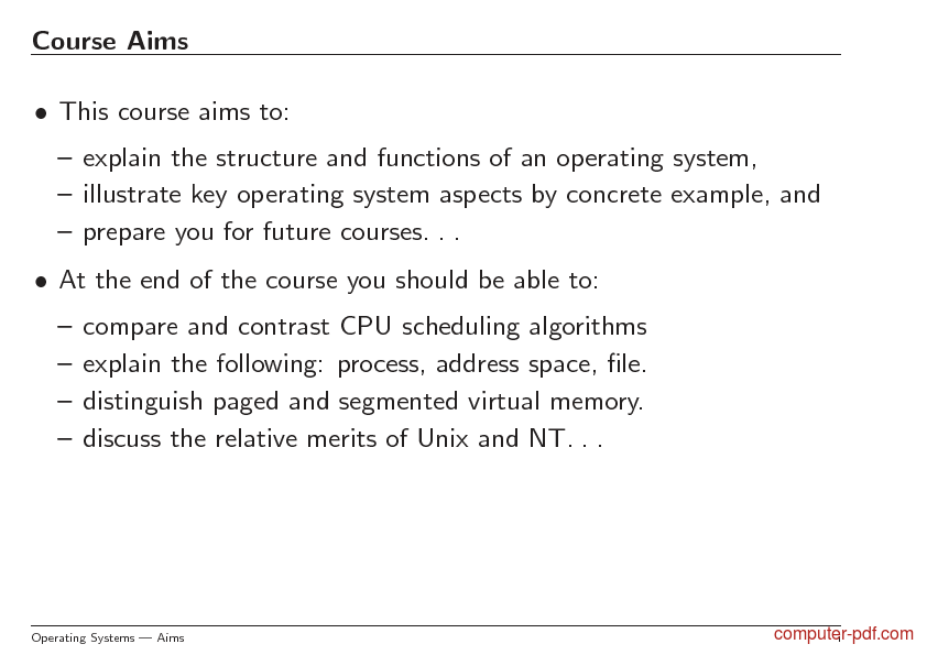 Tutorial Operating Systems 2