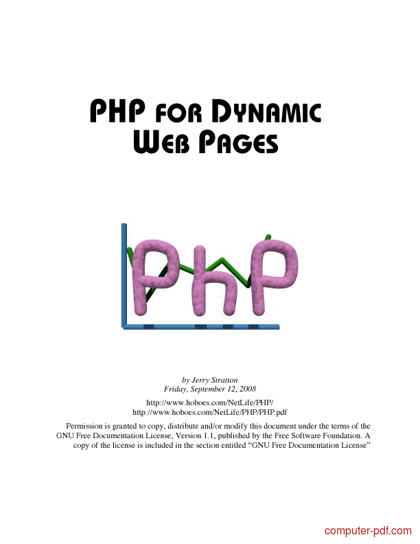Tutorial PHP for dynamic web pages 1