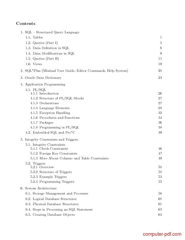Language sql access cours pdf