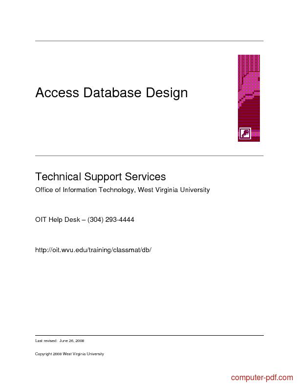 Tutorial Access Database Design