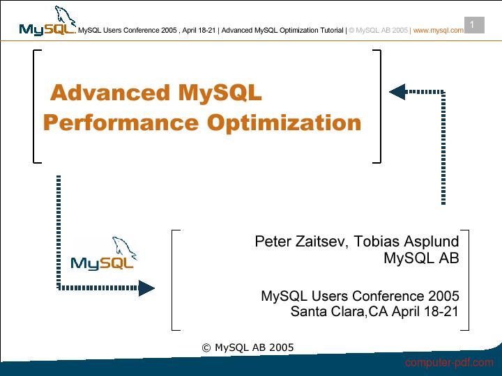 Tutorial Advanced MySQL Performance Optimization 1