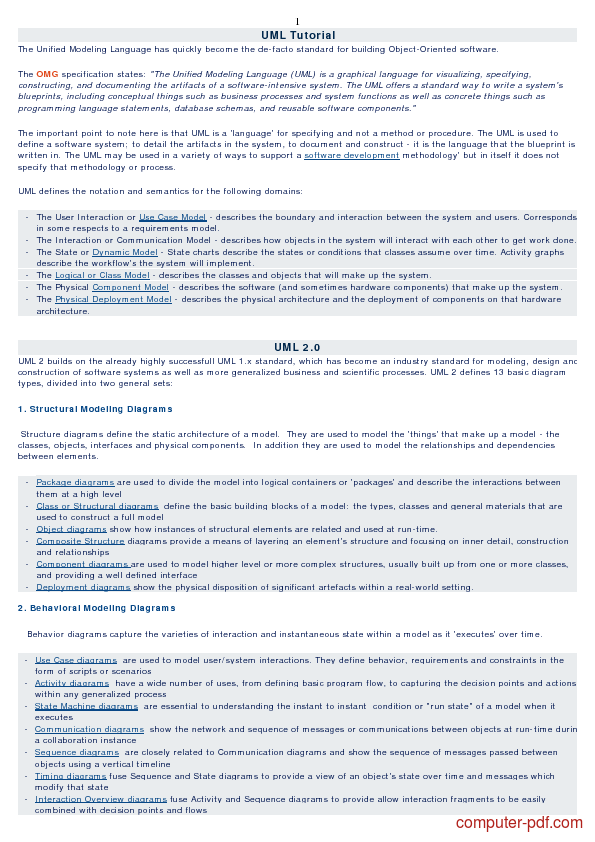 Tutorial UML Tutorial  1