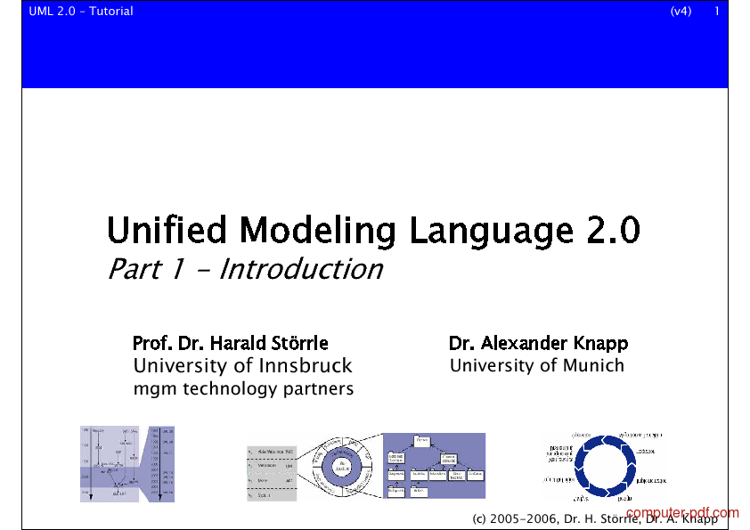Tutorial Unified Modeling Language 2.0 1