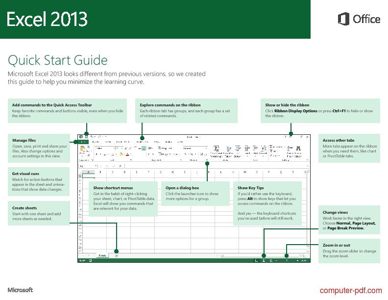 Tutorial Excel 2013 Quick Start 1