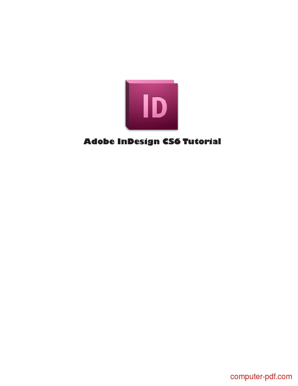 Tutorial Adobe InDesign CS6 Tutorial