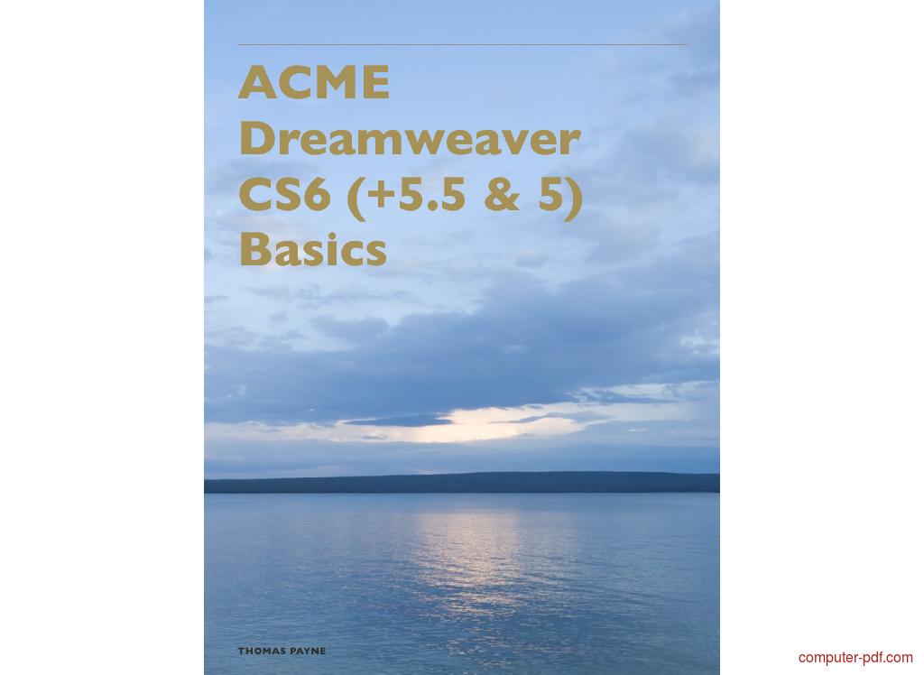 Tutorial Dreamweaver CS6 Basics