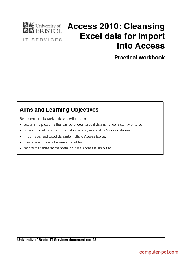 how to create a database in access 2010 pdf