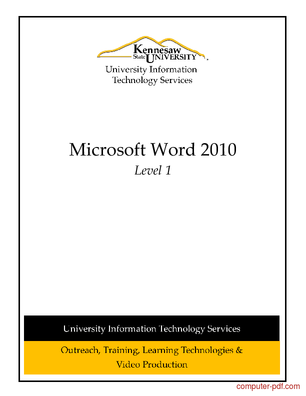 Tutorial Microsoft Word 2010 Level 1