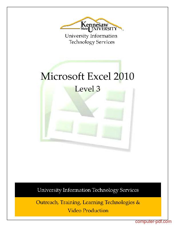 Tutorial Microsoft Excel 2010 Level 3