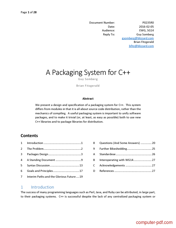 Tutorial A Packaging System for C++ 1