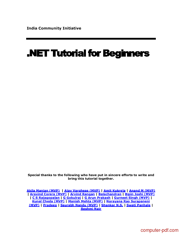 Tutorial .NET Tutorial for Beginners 1