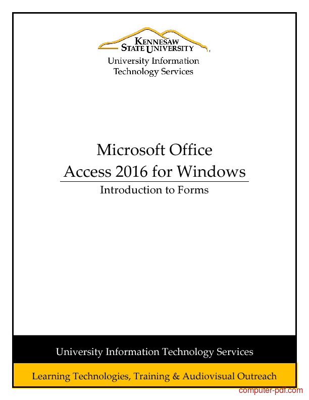 Tutorial Access 2016 - Introduction to Forms