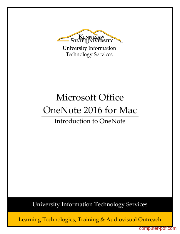 Tutorial Introduction to OneNote 2016 for Mac 1