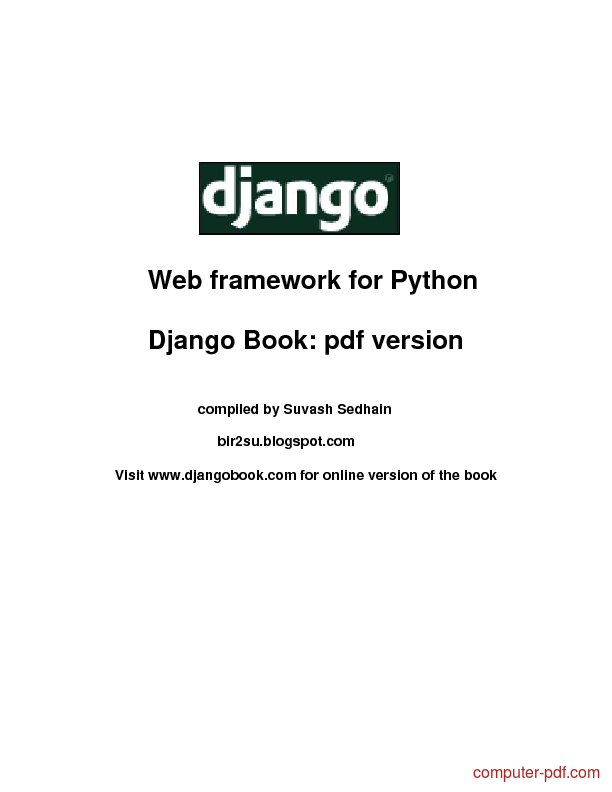 Tutorial Django Web framework for Python