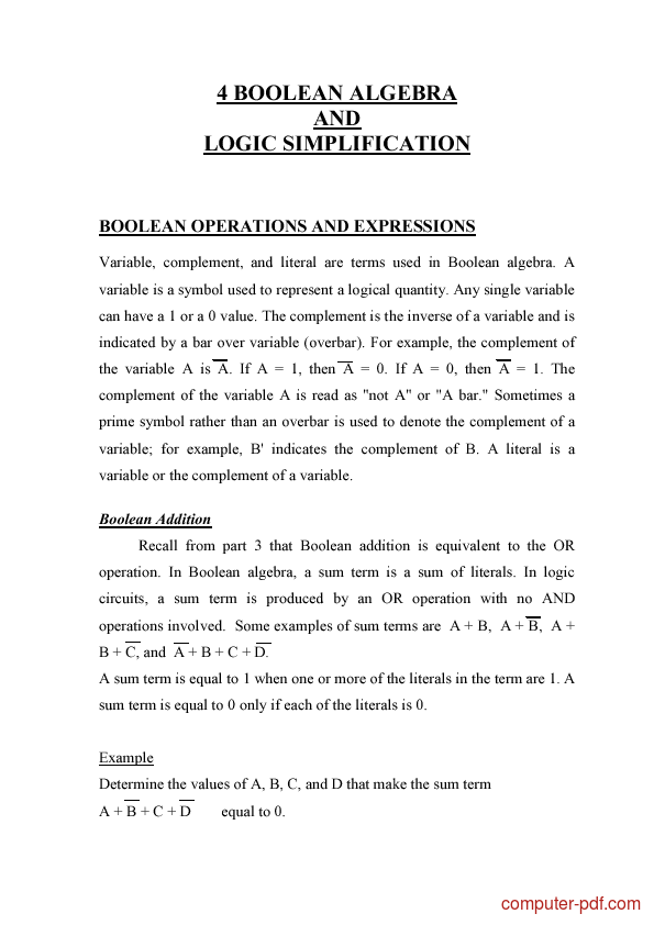 Tutorial Boolean Algebra And Logic Simplification 1