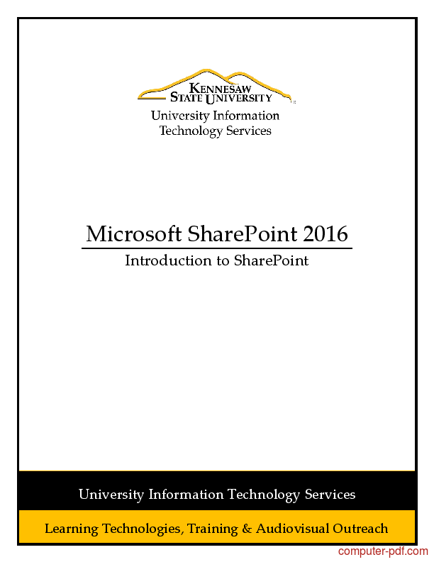 Tutorial Microsoft SharePoint 2016 1