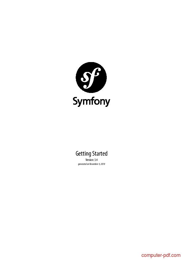 Tutorial Symfony Getting Started