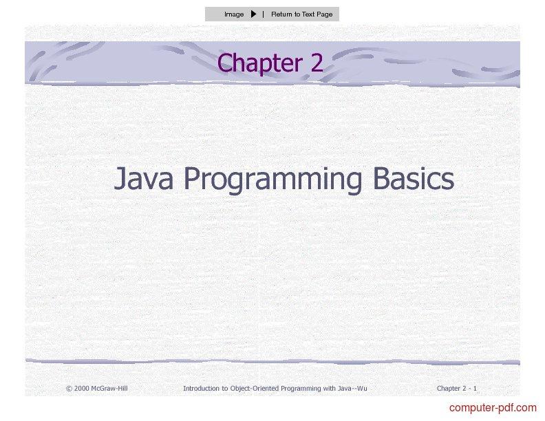 Tutorial Java Programming Basics 1
