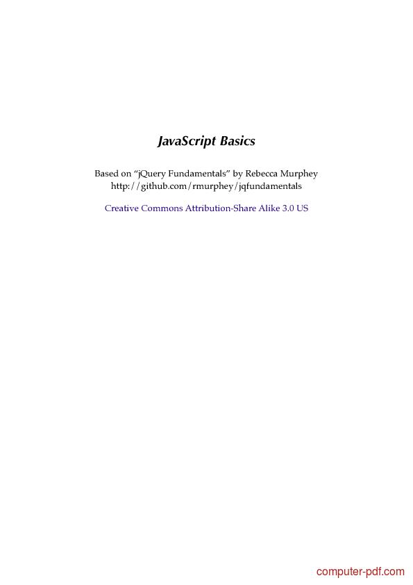 Tutorial JavaScript Basics