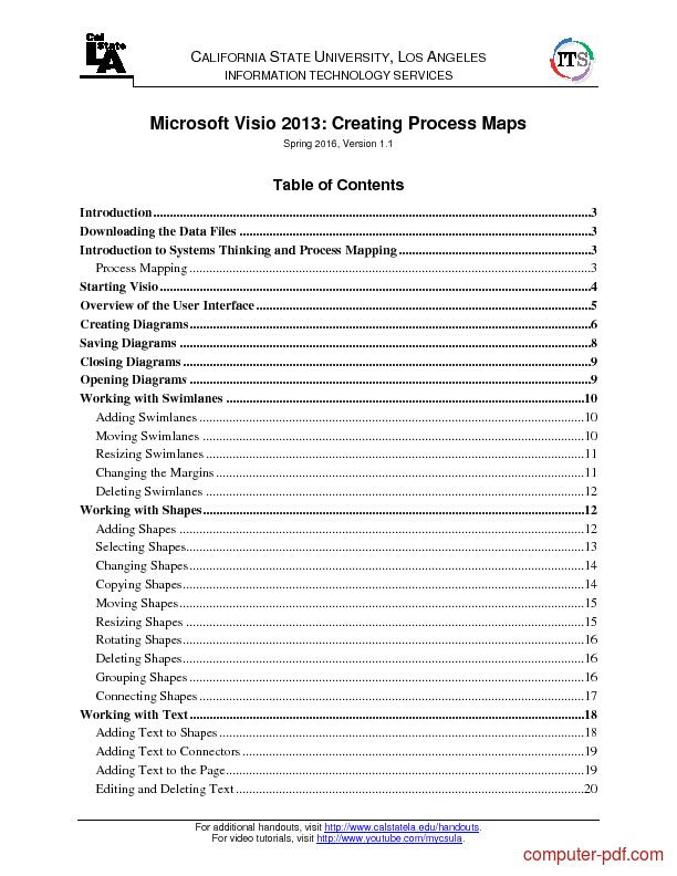 Tutorial Microsoft Visio 2013 Creating Process Maps 1