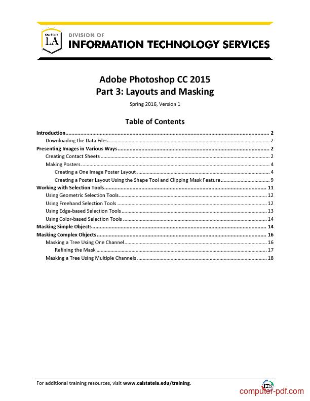 Tutorial Adobe Photoshop CC 2015 Part 3: Layouts and Masking 1